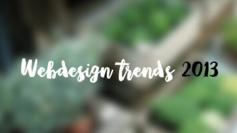 Dé webdesign trends van 2013